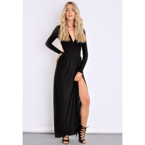 Prudence-Black-Slinky-Gathered-Goddess-Maxi-Dress---Womens-Celebrity-Inspired-Dresses-_-South-Avenue-front-view-750x750.jpg